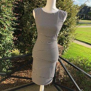 WHBM STRIPED LAYER DRESS